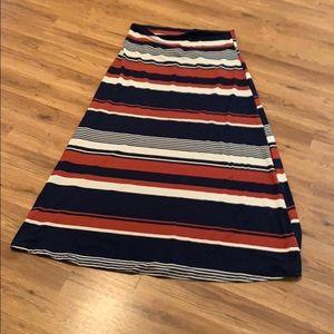 Agnes & Dora striped maxi dress